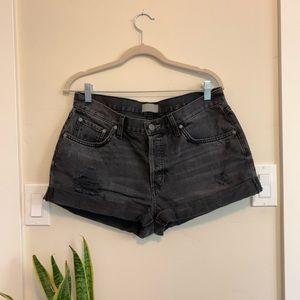 Boyish Distressed Jean Shorts